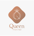 logo design letter q concept for luxury business vector image vector image