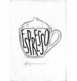 macciato cup vector image vector image