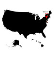 map of the us state delawar vector image vector image