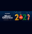 merry christmas and happy new year 2021 banner vector image vector image
