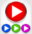 play buttons with frame and shadow isolated on vector image
