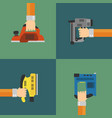 power tools set modern flat design style vector image vector image