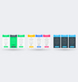 pricing table design template for websites and vector image vector image