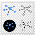 relation links eps icon with contour vector image vector image