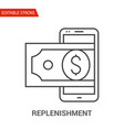replenishment icon thin line vector image vector image