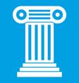 roman column icon white vector image vector image