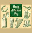 saint patrick s day top gentleman hat smoking vector image