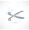 scissors grunge icon vector image vector image