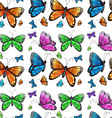 Seamless butterfly vector image vector image