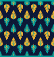 seamless leaves pattern decorative vector image vector image