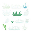 set grass for your design vector image vector image