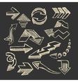 Set of sketched arrow vector image vector image