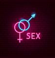 sex neon label vector image