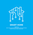 smart home icon and emblem digital technologies vector image vector image