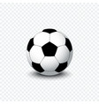 soccer ball realistic football ball or soccer vector image