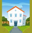 spring house in garden vector image vector image