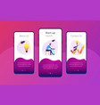 start up launch app interface template vector image vector image