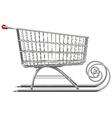 Supermarket Sleigh vector image vector image