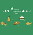 vegetarian menu for cafe and restaurants vegan vector image
