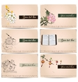 vintage business cards set vector image vector image