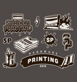 vintage screen printing concept vector image
