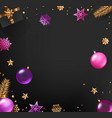 winter holidays shining accessories top view vector image