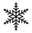 winter snowflake cartoon vector image