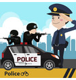 police set cartoon vector image
