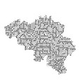 abstract schematic map of belgium from the black vector image vector image