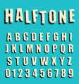 alphabet font dotted halftone design vector image vector image