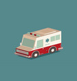 ambulance car isometric view transport vector image vector image