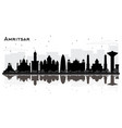 amritsar india city skyline silhouette with black vector image vector image