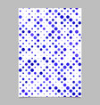 blue abstract dot pattern brochure background vector image vector image