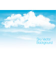 blue sky background with white transparent vector image vector image