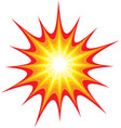 bright flashy explosion blast vector image