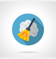 Broom flat round icon