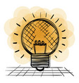 bulb light drawn icon vector image