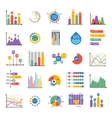 Business data graph analytics elements vector image vector image