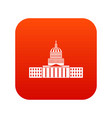 capitol icon digital red vector image vector image