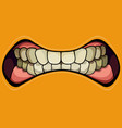 cartoon grinning mouth with clenched teeth on a vector image