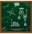 chalk draw phisics elements vector image vector image
