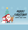 character cartoon cute christmas day vector image vector image