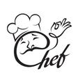 chef menu design vector image vector image