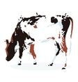 Chocolate dairy cow vector image