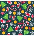 christmas seamless wallpaper vector image