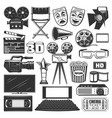 cinema production watching equipment signs icons vector image vector image