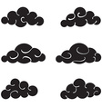 Clouds black set isolated on white background vector image vector image