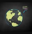 color chalk drawn earth globe vector image