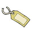 comic cartoon luggage tag vector image vector image