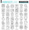 cooking and kitchen outline concept symbols vector image vector image